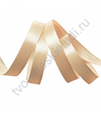 Лента атласная, 12мм, цв. бледно-персиковый-3066, 1 м