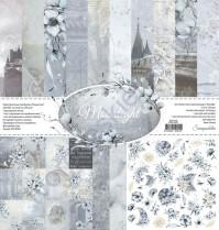 Набор двусторонней бумаги Moonlight, 7 листов, 30.5х30.5 см