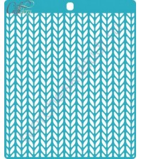 Трафарет пластиковый Вязаный, 14.6х16.4 см