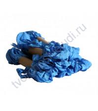 Шебби-лента мятая, Синяя джинса, ширина 14мм, моток1м
