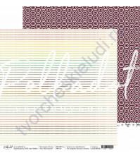 Бумага для скрапбукинга двусторонняя коллекция Кухня, 30.5х30.5 см, 190 гр/м, лист Как вкусно