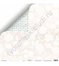 Бумага для скрапбукинга двусторонняя, коллекция Peaches and Cream, 30.5х30.5 см, 190 гр\м2, лист Счастье