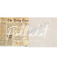 Бумага для скрапбукинга двусторонняя, коллекция Текстура, 30.5х30.5 см, 190 гр\м2, лист Газета
