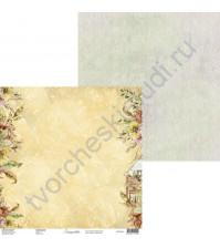 Бумага для скрапбукинга двусторонняя, 30.5х30.5 см, плотность 250 гр/м2, коллекция Lovely autumn, Лист 3