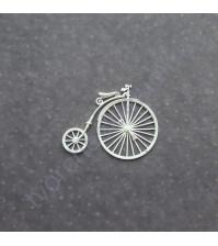 Фигурка из пластика Ретро велосипед, цвет молочный