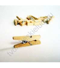 Прищепка деревянная Натуральная, 25 мм, 1 шт.