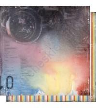 Бумага для скрапбукинга двусторонняя, коллекция Автопарк, лист 001