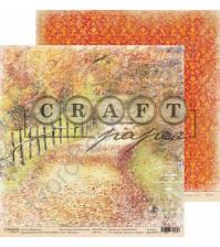 Бумага для скрапбукинга двусторонняя коллекция Золотая осень, 30.5х30.5 см, 190 гр/м, лист Тропинка