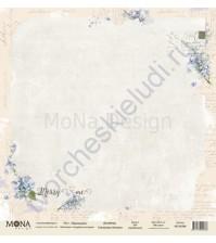 Бумага для скрапбукинга односторонняя Свадебная история, 30.5х30.5 см, 190 гр/м, лист Признание