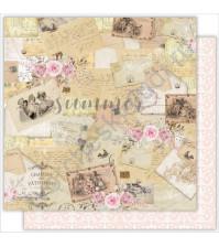 Бумага для скрапбукинга двусторонняя 30.5х30.5 см, 190 гр/м, коллекция Tender sentiment, лист Vintage