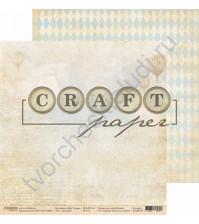Бумага для скрапбукинга двусторонняя коллекция Bon Voyage, 30.5х30.5 см, 190 гр/м, лист Газетный