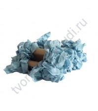 Шебби-лента мятая, Темный голубой, ширина 14 мм, 1 метр