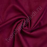 Искусственная замша Suede, плотность 230 г/м2, размер 35х50см (+/- 2см), цвет маджента