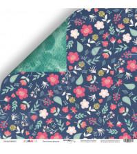 Бумага для скрапбукинга двусторонняя 30.5х30.5 см, 190 гр/м, коллекция Summer, лист Цветочная феерия