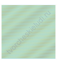 Бумага для скрапбукинга односторонняя с фольгированием золотом 30.5х30.5 см, 180 гр/м2, лист Полоска