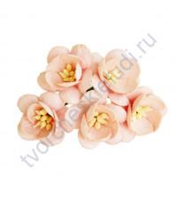 Цветы вишни, 5 шт, цвет розовоперсиковый