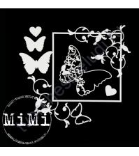 Чипборд Набор Изящная бабочка, коллекция Узорная, размер 10х15 см