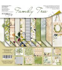 Набор двусторонней бумаги Family Tree, 30.5х30.5 см, 190 гр/м, 11 листов