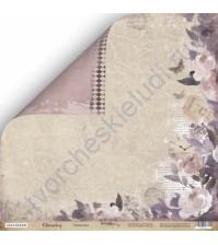 Бумага для скрапбукинга двусторонняя 30.5х30.5 см, 190 гр/м, коллекция Charming (Очарование), лист Романтика