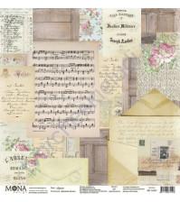 Бумага для скрапбукинга односторонняя Дыхание весны, 30.5х30.5 см, 190 гр/м, лист Душа