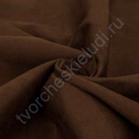 Искусственная замша Suede, плотность 230 г/м2, размер 50х35 см (+/- 2см), цвет шоколадный