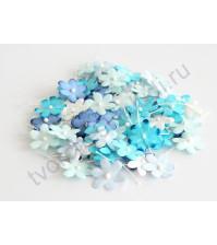 Цветочки маленькие 2 см, 10 шт, голубой микс