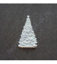 Фигурка из пластика Ёлка с подарками, цвет белый, 7х4 см