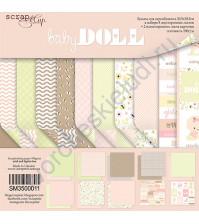 Набор бумаги для скрапбукинга Doll Baby, 30.5х30.5 см, 190 гр/м, 10 листов (ENG)