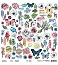 Бумага для скрапбукинга односторонняя, коллекция #Мастхэв, 30.5х30.5 см плотность 190г/м, лист Весна