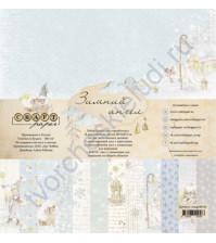 Набор бумаги Зимний ангел, 30.5х30.5 см, 190 гр/м, 12 двусторонних листов + 2 листа с карточками