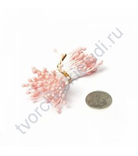 Тычинки двусторонние, пучок 84 шт, цвет персиковый