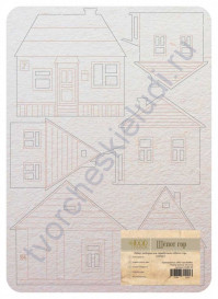 Набор чипборда Дома, коллекция Шёпот гор, 6 элементов