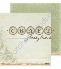 Бумага для скрапбукинга двусторонняя коллекция Родные просторы, 30.5х30.5 см, 190 гр/м, лист Чаепитие
