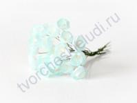 Лютики 5 шт, цвет светло-голубой с белым