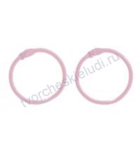 Кольца для альбомов, 2 шт, цвет светло- розовый, 3 см