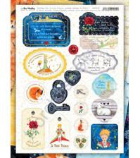 Набор вырубных элементов (чипборд) The Little Prince, 19 элементов, размер листа 21х29.7 см