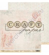 Бумага для скрапбукинга двусторонняя 30.5х30.5 см, 190 гр/м, коллекция Ретро, лист Журнал