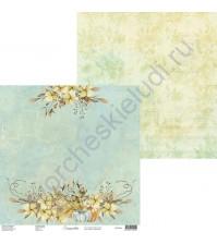 Бумага для скрапбукинга двусторонняя, 30.5х30.5 см, плотность 250 гр/м2, коллекция Lovely autumn, Лист 2