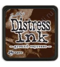 Штемпельная мини-подушечка Tim Holtz Distress Mini Ink Pads на водной основе, 2.5х2.5 см, цвет молотый кофе (ground espresso)