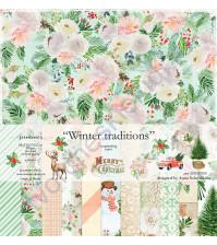 Набор двусторонней бумаги Winter traditions, 30.5х30.5 см, 190 гр/м, 11 листов
