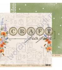 Бумага для скрапбукинга двусторонняя коллекция Цветик-семицветик, 30.5х30.5 см, 190 гр/м, лист Модница