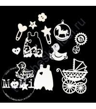 Чипборд Набор Детские радости, коллекция Малыш, 10х15 см