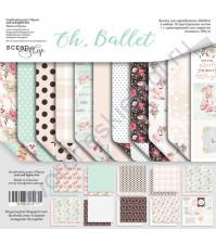 Набор двусторонней бумаги Oh, Ballet, 20х20 см, 190 гр/м, 11 листов