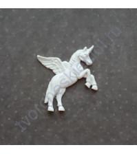 Фигурка из пластика Единорог, цвет белый, 5.5х5 см
