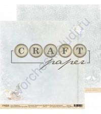 Бумага для скрапбукинга двусторонняя 30.5х30.5 см, 190 гр/м, коллекция Зимний ангел, лист Снегопад