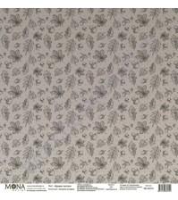 Бумага для скрапбукинга односторонняя Осенняя история, 30.5х30.5 см, 190 гр/м, лист Кружит листва