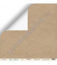 Бумага для скрапбукинга двусторонняя 30.5х30.5 см, 190 гр/м, коллекция Blue and Blush, лист Крафт