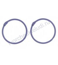 Кольца для альбомов, 2 шт, цвет фиолетовый, 45 мм