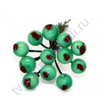 Букетик декоративный Ягоды, 12 штук, цвет мятный