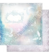 Бумага для скрапбукинга двусторонняя, коллекция Невесомость, лист 001